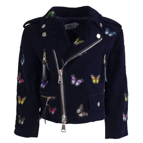 lola and the boys Jackets & Blazers - Lola and The Boys: Butterfly Motto Jacket
